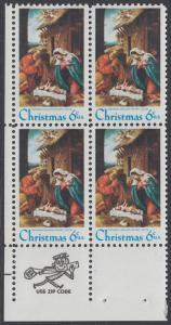 USA Michel 1016 / Scott 1414 postfrisch ZIP-BLOCK (ll) - Weihnachten: Die Geburt Christi