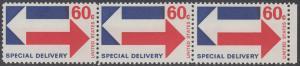 USA Michel 1034 / Scott E023 postfrisch horiz.PAAR RAND rechts - Eilmarke: Gegenläufige Pfeile