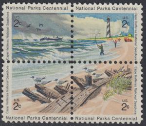 USA Michel 1062-1065 / Scott 1448-1451 postfrisch BLOCK - 100 Jahre Nationalparks: Cape-Hatteras-Seeküste
