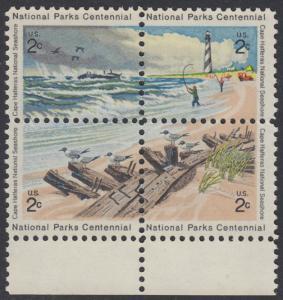 USA Michel 1062-1065 / Scott 1448-1451 postfrisch BLOCK RÄNDER unten - 100 Jahre Nationalparks: Cape-Hatteras-Seeküste