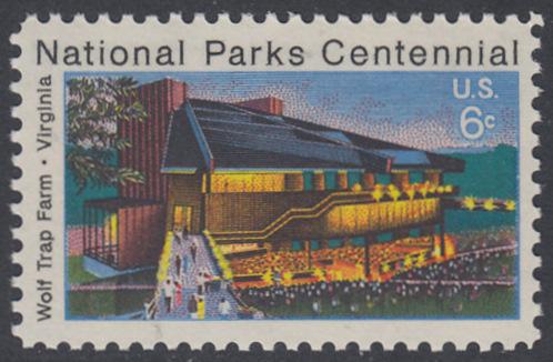 USA Michel 1068 / Scott 1452 postfrisch EINZELMARKE - 100 Jahre Nationalparks: Wolf Trap Farm, VA; Theater im Wolf-Trap-Farm-Nationalpark, Virginia 0