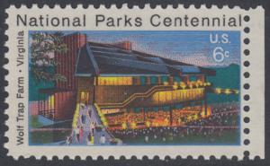 USA Michel 1068 / Scott 1452 postfrisch EINZELMARKE RAND rechts - 100 Jahre Nationalparks: Wolf Trap Farm, VA; Theater im Wolf-Trap-Farm-Nationalpark, Virginia