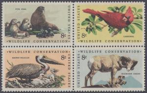 USA Michel 1079-1082 / Scott 1464-1467 postfrisch BLOCK - Naturschutz