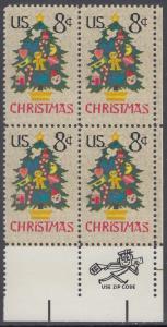 USA Michel 1124 / Scott 1508 postfrisch ZIP-BLOCK (lr) - Weihnachten; Weihnachtsbaum, Handstickerei