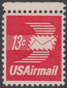 USA Michel 1125A / Scott C079 postfrisch Luftpost-EINZELMARKE RAND oben - Luftpostbrief
