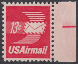USA Michel 1125A / Scott C079 postfrisch Luftpost-EINZELMARKE RAND rechts - Luftpostbrief