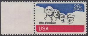 USA Michel 1128 / Scott C088 postfrisch Luftpost-EINZELMARKE RAND links - Mt. Rushmore National Memorial, bei Rapid City, SD