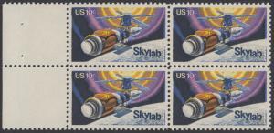 USA Michel 1136 / Scott 1529 postfrisch BLOCK RÄNDER links - Raumfahrtunternehmen Skylab