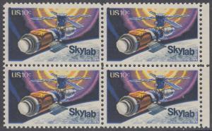 USA Michel 1136 / Scott 1529 postfrisch BLOCK RÄNDER rechts - Raumfahrtunternehmen Skylab