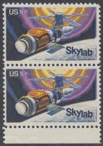 USA Michel 1136 / Scott 1529 postfrisch vert.PAAR RAND unten - Raumfahrtunternehmen Skylab