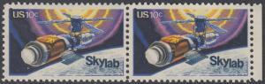 USA Michel 1136 / Scott 1529 postfrisch horiz.PAAR RAND rechts - Raumfahrtunternehmen Skylab