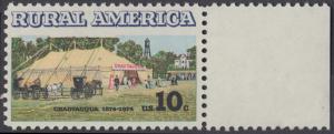 USA Michel 1154 / Scott 1505 postfrisch EINZELMARKE RAND rechts (a2) - Ländliches Amerika: Versammlungszelt der Chautauqua-Organisation (religiöse Ferienschule)