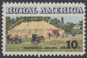 USA Michel 1154 / Scott 1505 postfrisch EINZELMARKE - Ländliches Amerika: Versammlungszelt der Chautauqua-Organisation (religiöse Ferienschule)