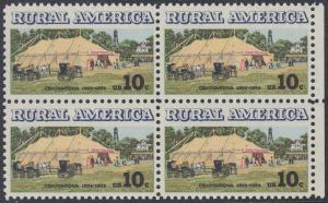 USA Michel 1154 / Scott 1505 postfrisch BLOCK RÄNDER rechts (a1) - Ländliches Amerika: Versammlungszelt der Chautauqua-Organisation (religiöse Ferienschule)