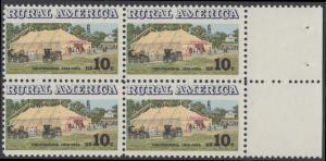 USA Michel 1154 / Scott 1505 postfrisch BLOCK RÄNDER rechts (a2) - Ländliches Amerika: Versammlungszelt der Chautauqua-Organisation (religiöse Ferienschule)