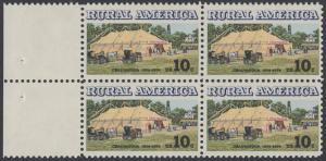USA Michel 1154 / Scott 1505 postfrisch BLOCK RÄNDER links - Ländliches Amerika: Versammlungszelt der Chautauqua-Organisation (religiöse Ferienschule)