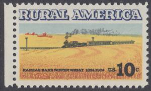 USA Michel 1155 / Scott 1506 postfrisch EINZELMARKE RAND links - Ländliches Amerika: Zug zwischen Weizenfeldern