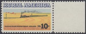 USA Michel 1155 / Scott 1506 postfrisch EINZELMARKE RAND rechts - Ländliches Amerika: Zug zwischen Weizenfeldern