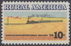 USA Michel 1155 / Scott 1506 postfrisch EINZELMARKE - Ländliches Amerika: Zug zwischen Weizenfeldern