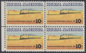 USA Michel 1155 / Scott 1506 postfrisch BLOCK RÄNDER links - Ländliches Amerika: Zug zwischen Weizenfeldern