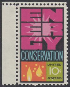 USA Michel 1156 / Scott 1547 postfrisch EINZELMARKE ECKRAND oben links - Weltenergiekonferenz