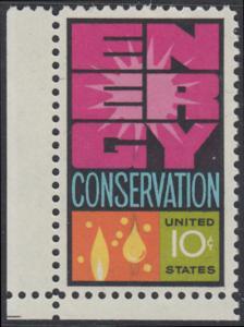 USA Michel 1156 / Scott 1547 postfrisch EINZELMARKE ECKRAND unten links - Weltenergiekonferenz