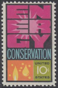 USA Michel 1156 / Scott 1547 postfrisch EINZELMARKE - Weltenergiekonferenz
