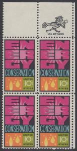 USA Michel 1156 / Scott 1547 postfrisch ZIP-BLOCK (ur) - Weltenergiekonferenz