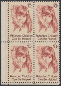 USA Michel 1159 / Scott 1549 postfrisch BLOCK ECKRAND unten links - Hilfe für behinderte Kinder