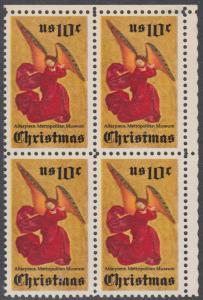 USA Michel 1160 / Scott 1550 postfrisch BLOCK ECKRAND oben rechts - Weihnachten; Engel, Altarbild eines unbekannten französischen Meisters