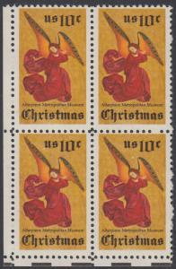 USA Michel 1160 / Scott 1550 postfrisch BLOCK ECKRAND unten links - Weihnachten; Engel, Altarbild eines unbekannten französischen Meisters