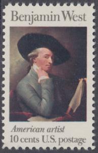 USA Michel 1163 / Scott 1553 postfrisch EINZELMARKE - Amerikanische Künstler: Benjamin West, Maler