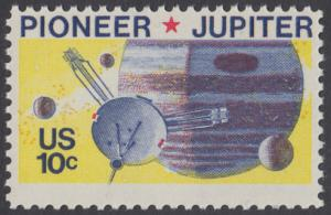 USA Michel 1164 / Scott 1556 postfrisch EINZELMARKE - Pioneer-Programm zur Erforschung des Planeten Jupiter; Raumsonde Pioneer, Planet Jupiter mit Monden