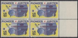 USA Michel 1164 / Scott 1556 postfrisch BLOCK RÄNDER rechts - Pioneer-Programm zur Erforschung des Planeten Jupiter; Raumsonde Pioneer, Planet Jupiter mit Monden
