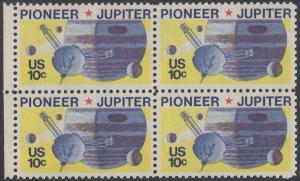 USA Michel 1164 / Scott 1556 postfrisch BLOCK RÄNDER links - Pioneer-Programm zur Erforschung des Planeten Jupiter; Raumsonde Pioneer, Planet Jupiter mit Monden