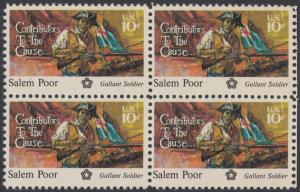 USA Michel 1167 / Scott 1560 postfrisch BLOCK RÄNDER rechts  - 200 Jahre Unabhängigkeit der Vereinigten Staaten von Amerika (1976): Salem Poor (1747-1802)