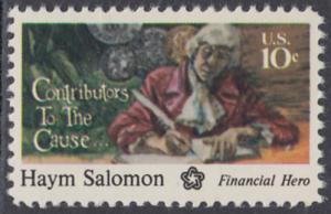 USA Michel 1168 / Scott 1561 postfrisch EINZELMARKE - 200 Jahre Unabhängigkeit der Vereinigten Staaten von Amerika (1976): Haym Salomon (1740-1795)