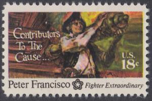 USA Michel 1169 / Scott 1562 postfrisch EINZELMARKE - 200 Jahre Unabhängigkeit der Vereinigten Staaten von Amerika (1976): Peter Francisco (1760-1831)