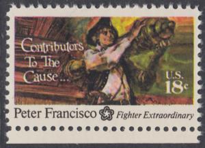 USA Michel 1169 / Scott 1562 postfrisch EINZELMARKE RAND unten - 200 Jahre Unabhängigkeit der Vereinigten Staaten von Amerika (1976): Peter Francisco (1760-1831)