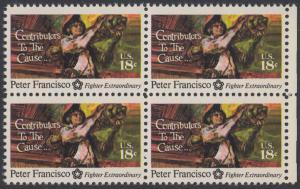 USA Michel 1169 / Scott 1562 postfrisch BLOCK RÄNDER rechts - 200 Jahre Unabhängigkeit der Vereinigten Staaten von Amerika (1976): Peter Francisco (1760-1831)