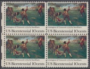USA Michel 1171 / Scott 1563 postfrisch BLOCK RÄNDER links - 200 Jahre Unabhängigkeit der Vereinigten Staaten von Amerika (1976): 200. Jahrestag der Schlacht von Lexington-Concord