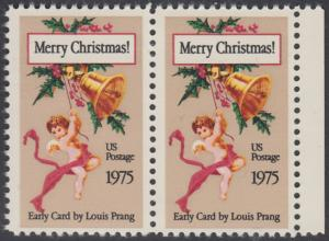 USA Michel 1189 / Scott 1580 postfrisch horiz.PAAR RAND rechts - Weihnachten