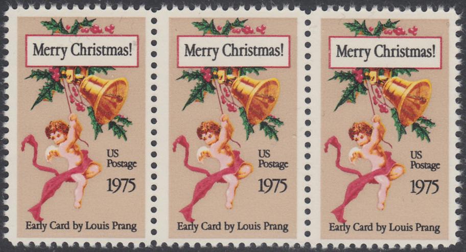 USA Michel 1189 / Scott 1580 postfrisch horiz.STRIP(3) - Weihnachten 0