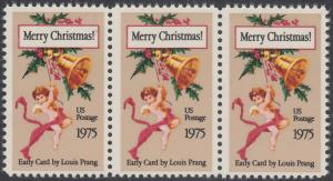USA Michel 1189 / Scott 1580 postfrisch horiz.STRIP(3) - Weihnachten