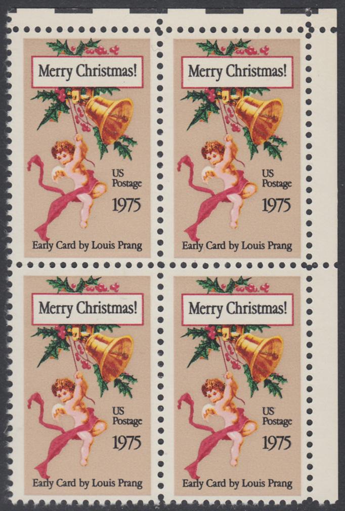 USA Michel 1189 / Scott 1580 postfrisch BLOCK ECKRAND oben rechts - Weihnachten 0
