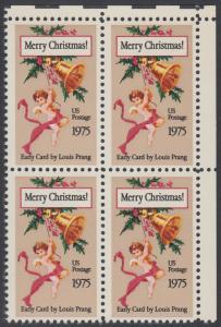 USA Michel 1189 / Scott 1580 postfrisch BLOCK ECKRAND oben rechts - Weihnachten