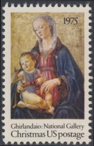 USA Michel 1190 / Scott 1579 postfrisch EINZELMARKE - Weihnachten; Madonna mit Kind