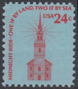 USA Michel 1193 / Scott 1603 postfrisch EINZELMARKE - Americana-Ausgabe: Alte Nordkirche, Boston