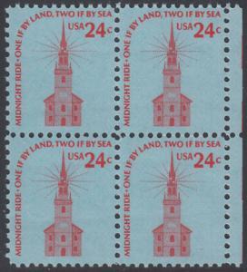 USA Michel 1193 / Scott 1603 postfrisch vert.BLOCK(6) - Americana-Ausgabe: Alte Nordkirche, Boston