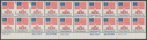 USA Michel 1194 / Scott 1622 postfrisch horiz.PLATEBLOCK(20) Ränder unten - Altes Sternenbanner und Unabhängigkeitshalle, Philadelphia